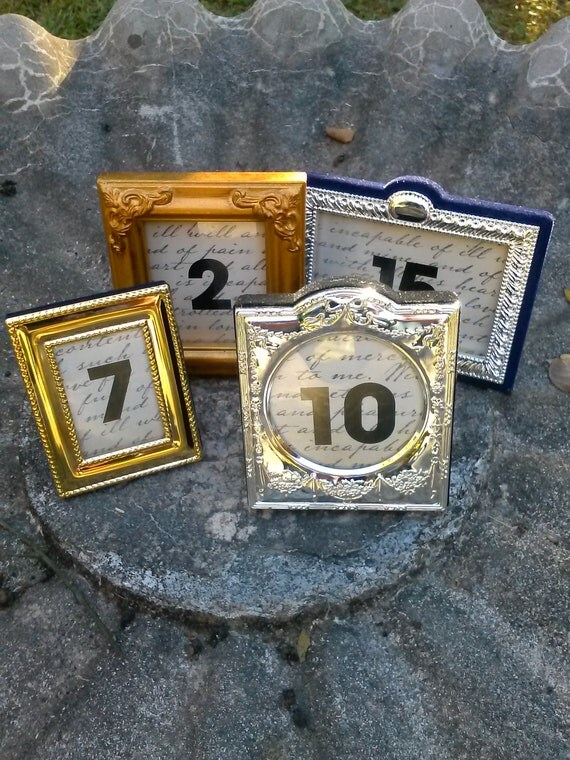 Items Similar To Table Number Frames Wedding Table Numbers Reception Numbers On Etsy