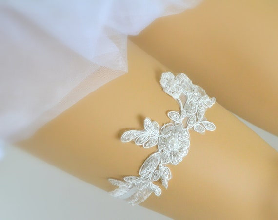 wedding garter beads and pearls processed ivory lace a garter for the modern chic bride bridal garter sexy garter