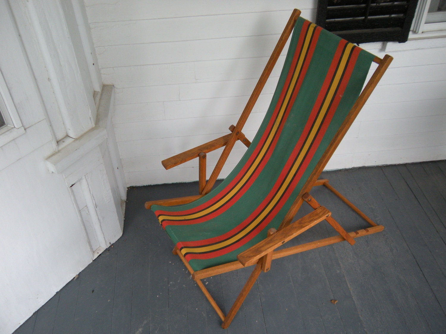 Vintage folding beach chairs -  Zoom