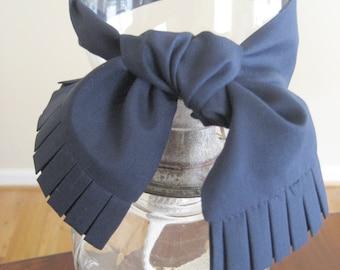 Navy Blue Silk Ladies Tie