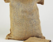 10 All-Natural Eco Burlap Bags  each measuring 14 inches x 26 inches