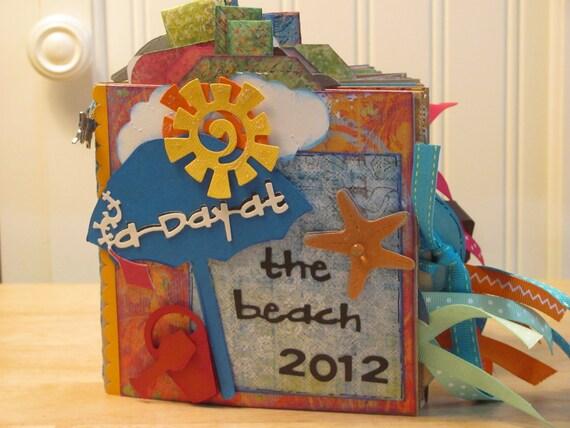 Summer Vacation - Travel - Paper Bag Scrapbook - Mini Album -Zine- Brag Book - Photo Holder - Memory Book