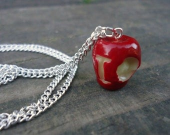Small IOU Apple Necklace - Moriarty, BBC Sherlock