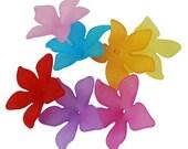 Flower Beads Bulk Beads Wholesale Beads Acrylic 29mm Assorted Beads 100pcs