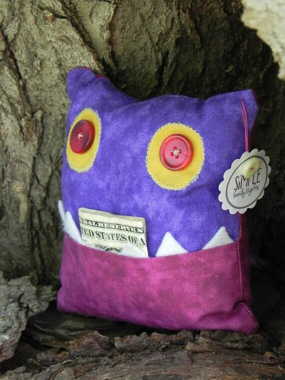 Butterscotch, Monster Tooth Fairy Pillow