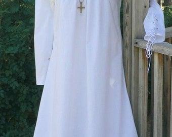 Renaissance Chemise Medieval Undergown Dress Surcoat Tunic