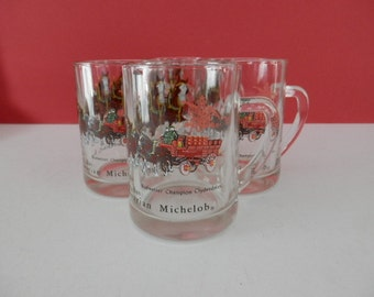 Beer Glasses - Set of 4  Budweiser Clydesdale Anheuser Busch since 1896