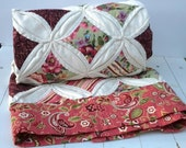 Cathedral Window Quilt For Baby or Mom Shabby Chic with Paisley Border