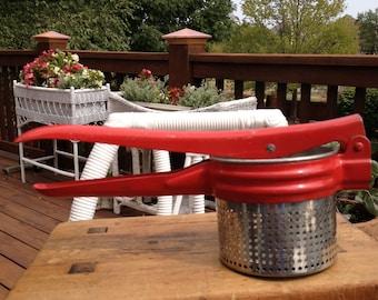 Vintage Red Vegtable Ricer