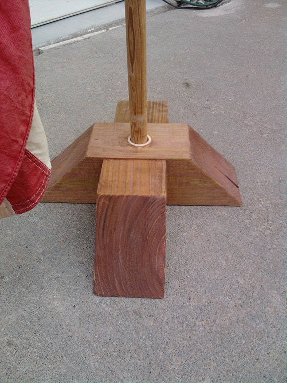 Wooden flag stand portable and will withstand the weather