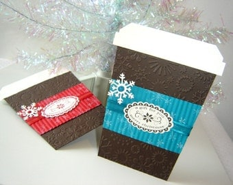 Christmas Coffee Cup Gift Card Holder