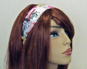 "Pretty Print Headband: ""Love you"" print, Valentine."