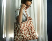 Large Custom Quilted Tote Bag