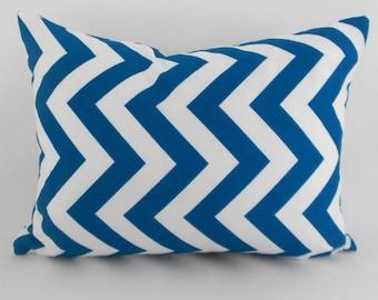 Lumbar Pillow Decorative Pillow Cover Pillows Home Decor Blue Moon White ZigZag Chevron by Premier Prints