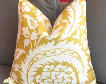 Pillow Cover, Decorative Pillow, Throw Pillow, Toss Pillow, Sofa Pillow, Yellow Ocher, Home Furnishing, Home Decor, Pillow Case