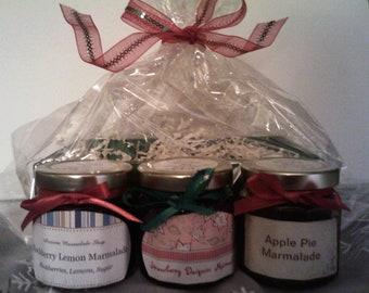 Jam & Marmalade Gift Box Set/ Holidays/ Christmas Gift Wrapped