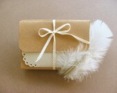 Mini Note Cards Blank With Envelopes - Set of 8- Doily Edged in Pretty Neutral Tones