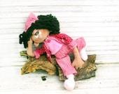 Cloth doll,Primitive Doll, hand made doll, Rag Doll, Art Doll, OOAK,funny doll, Home Decor, Cloth Doll, Child Friendly