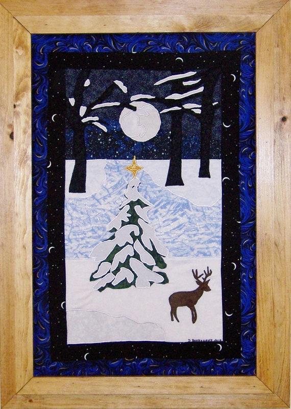 Line Art Quilt Kit : Silent night art quilt pattern kit from debbiebohringer