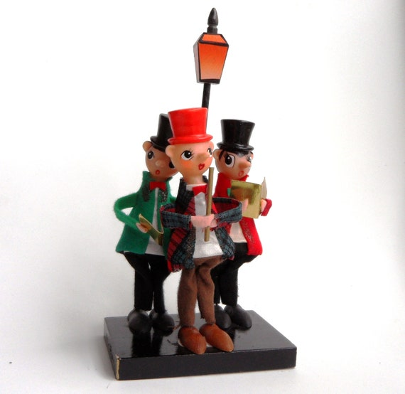 Noel Christmas Carolers Decoration Felt Clothes Big By