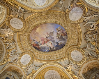 Parisian Church Ceiling Paris France Fine Art Print Photo