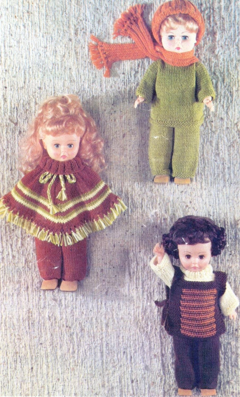 PDF Vintage Knitting Patterns for 14 Doll 35cm in