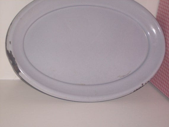 rustic enamelware platter