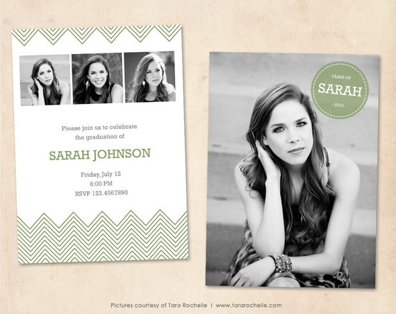Graduation Announcement Template Photoshop Senior by MarketingMall