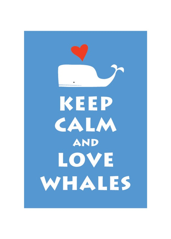 Keep Calm and Love Whales X10 : Pure Blue - Personalized color Wedding Birthday Anniversary Children Decor Kids Decor - BUY 2 Get 1 Free