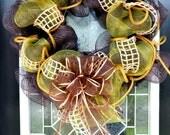 SOLD Fall Autumn Poly mesh wreath