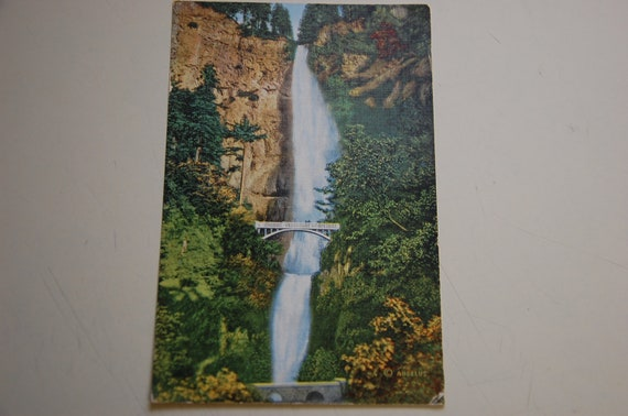 collection of 2 vintage post cards of oregon