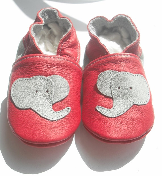 soft sole baby shoes leather children gift elephant 12-18