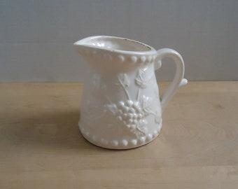 Vintage Napcoware White Ceramic Pitcher / Creamer