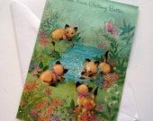 Vintage Unused Get Well Greeting Card