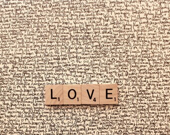 8x10, say it with words, scrabble, love, i love you fine art photography, home decor