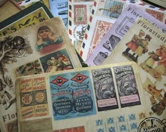 Vintage Sticker Set - Paper Sticker Set - Deco Sticker Set - Diary Sticker - 10 sheets