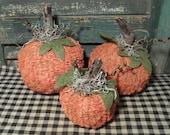 Primitive Chenille Pumpkins