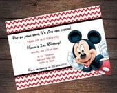 Mickey Mouse Birthday Party Invitation (Digital File)