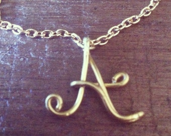 Initial Wire Necklace
