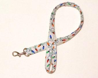 Lanyard, teacher lanyard, Cute Lanyard, Key Lanyard, Badge Lanyard neck strap, lanyard necklace, Landyard Id Badge id holder-Christmas Light