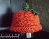 Halloween Crocheted Pumpkin Hat-Beanie
