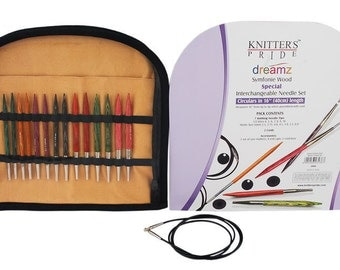 "Knitters Pride Dreamz Symfonie Wood Symfonie 16"" Special Interchangeable Knitting Needle Set"