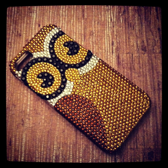iPhone 5 Art Deco Sparkling Owl Bling Rhinestone case