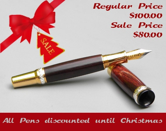 Elegant Rosewood Fountain Pen