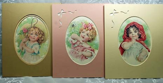 Vintage Nursey Rhyme Maude Humphrey Prints - Miss Muffett, Little Red Riding Hood, Little Bo Peep Reknown Artist Humphrey