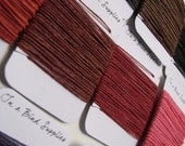 50 Yards (5 yards each) of waxed Irish Linen Thread - Choose any 10 colors