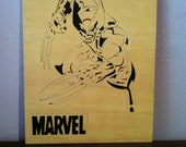 Wolverine wooden picture wall art scroll saw