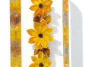 Acrylic Brooch Yellow Wild Flower Jewelry Hippie Collectible 1970s Yellow Pin Flower Power Yellow Wildflower