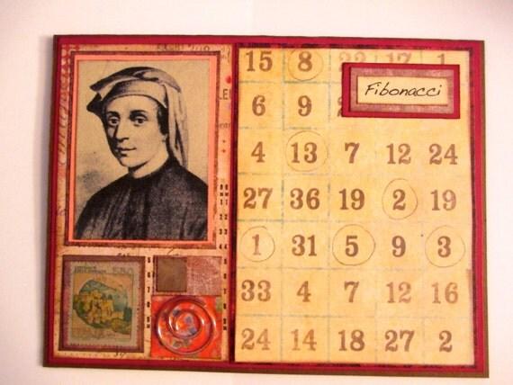 Fibonacci Mathematician Nerdy Greeting Card