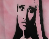 "Nicki Minaj Graffiti Stencil Art 16""x20"" Reserved"